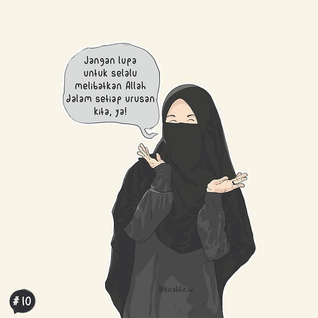 Wallpaper Kartun Muslimah Bergerak Cartoon Black Hair Illustration Fictional Character Abaya 1410247 Wallpaperkiss