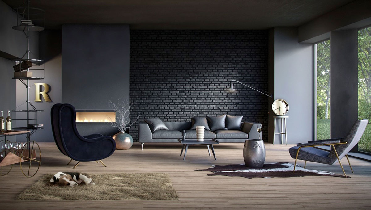 Brick Wallpaper Living Room Ideas Living Room Room Furniture Interior Design Floor Wall Couch Lighting Flooring Building 2440275 Wallpaperkiss